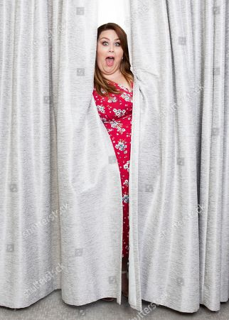 """Chrissy Metz poses for a portrait in promotion of her new film """"Breakthrough"""" at the Four Seasons Hotel in Los Angeles"""