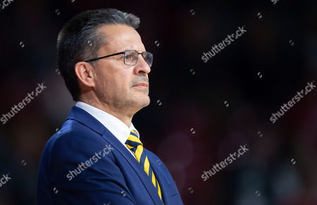 Head coach Pedro Martinez of Herbalife Gran Canaria attends the Euroleague basketball match between FC Bayern Munich and Herbalife Gran Canaria in Munich Germany, 05 April 2019.