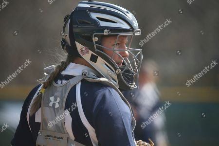 Yale's Olivia Lee during an NCAA softball game on in Staten Island, N.Y