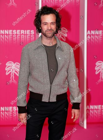 Romain Duris poses on the pink carpet before the opening ceremony of the Cannes Series Festival, in Cannes, 05 April 2019. The event runs from 05 to 10 April.