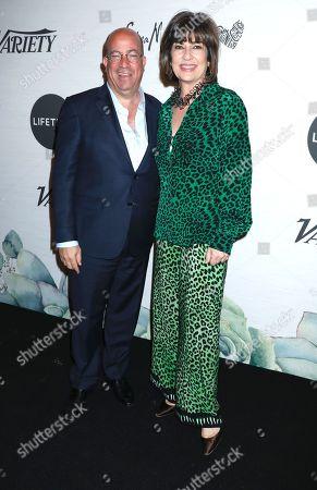Christiane Amanpour and Jeff Zucker (President of CNN Worldwide)