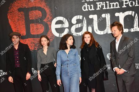 Stock Photo of Samuel Benchetrit, Diane Rouxel, Esther Garrel, Iris Bry, Frederic Tellier