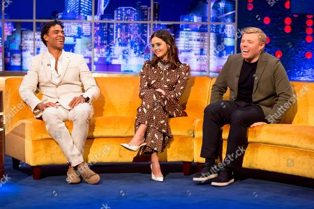 Carlos Acosta, Jenna Coleman and Rob Beckett