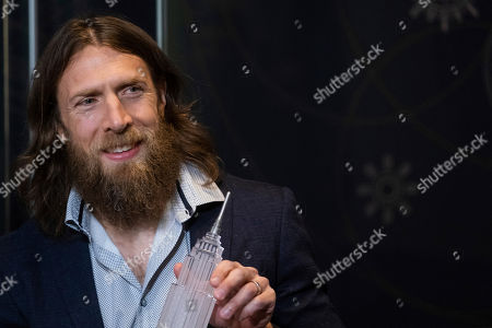 Stock Photo of WWE Superstar Daniel Bryan visits the Empire State Building to promote WrestleMania 35, in New York