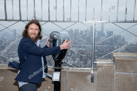 Stock Image of WWE Superstar Daniel Bryan visits the Empire State Building to promote WrestleMania 35, in New York