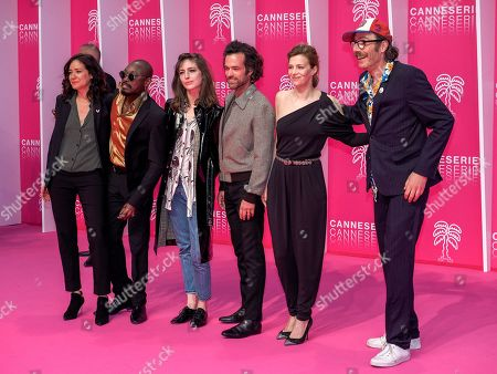 Cathy Verney, Athaya Mokonzi, Flora Fischbach, Romain Duris, Celine Sallette and Philippe Rebbot