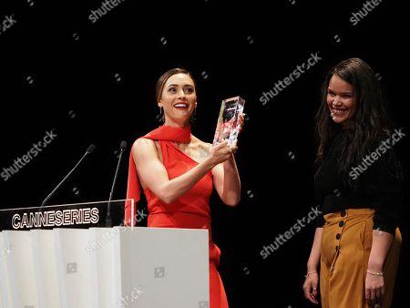 Lindsey Morgan receives the Seriously Award