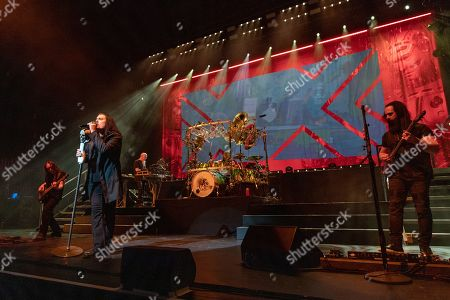 Stock Picture of Dream Theater - John Myung, James Labrie, Jordan Rudess, Mike Mangini and John Petrucci