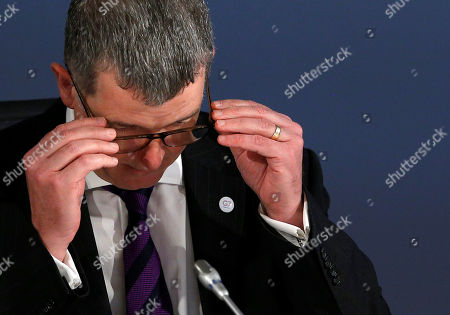 Stock Photo of Britain's Political Director Richard Moore attends a working session during the Foreign ministers of G7 nations meeting in Dinard, France, 06 April 2019. The G7 Summit in Biarritz, takes place from 25 to 27 August 2019