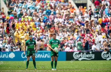 Ireland vs Russia. Ireland's Billy Dardis and Greg O'Shea