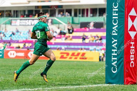 Stock Photo of Ireland vs Russia. Ireland's Greg O'Shea scores a try