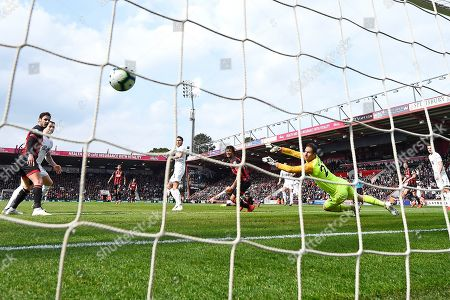 Ashley Westwood of Burnley rifles the second goal past Asmir Begovic of AFC Bournemouth during AFC Bournemouth vs Burnley, Premier League Football at the Vitality Stadium on 6th April 2019