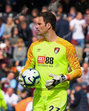 Asmir Begovic of AFC Bournemouth during AFC Bournemouth vs Burnley, Premier League Football at the Vitality Stadium on 6th April 2019