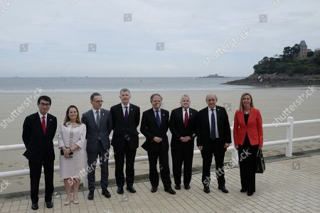 Editorial image of Foreign ministers of G7 nations meeting in Dinard, France - 06 Apr 2019