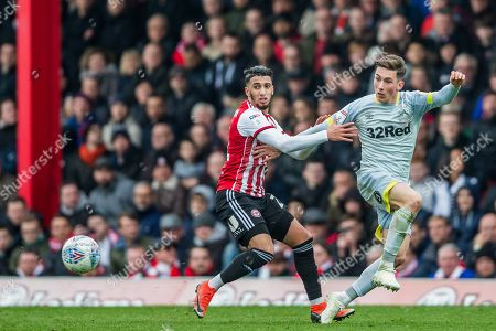 Said Benrahma (Brentford) & Harry Wilson (Derby County) during the EFL Sky Bet Championship match between Brentford and Derby County at Griffin Park, London