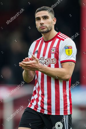 Neal Maupay (Brentford) following the EFL Sky Bet Championship match between Brentford and Derby County at Griffin Park, London