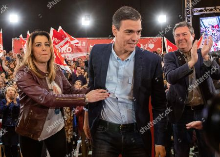 Editorial photo of PSOE rally in Seville, Sevilla, Spain - 06 Apr 2019