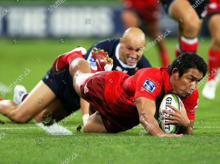 Editorial photo of Super Rugby - Rebels vs Sunwolves, Melbourne, Australia - 06 Apr 2019