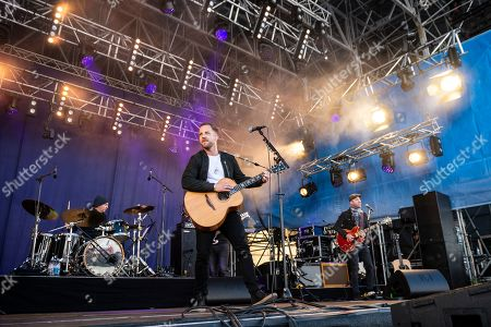 James Morrison performs during the 22nd Snowpenair music festival on the Kleine Scheidegg in the Bernese Oberland, Switzerland, 06 April 2019. The Snowpenair is a music festival who take place at 2'061 meters above sea level, and the arena is able to accommodate 8â??500 attendees.