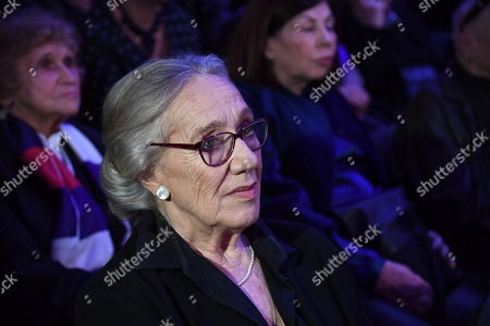 Polish actress Maja Komorowska attends the 'Wajda' exhibition at the National Museum in Krakow, Poland, 05 April 2019 (issued 06 April 2019). The exhibition presents creative achievements of one of the most famous Polish film directors Andrzej Wajda.