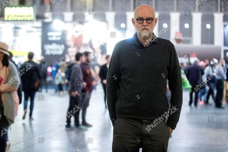 Stock Picture of US strip cartoonist Daniel Clowes poses for the media during the 37th International Comic Fair of Barcelona, in Barcelona, Spain, 06 April 2019. The event featuring exhibitions, master classes and an awards ceremony will gather professionals of the comic sector from 05 to 07 April.