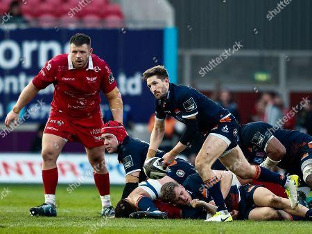 Scarlets vs Edinburgh. Edinburgh's Henry Pyrgos