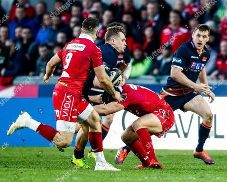 Scarlets vs Edinburgh. Edinburgh's Darcy Graham
