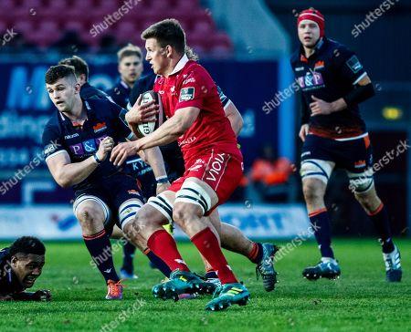 Scarlets vs Edinburgh. Scarlets' Josh Helps