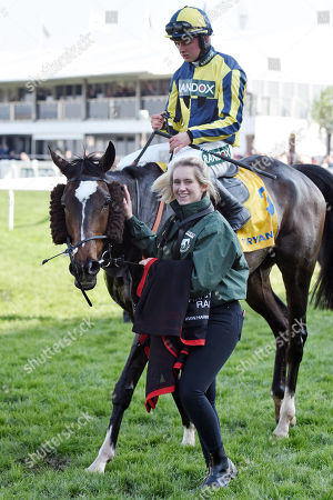 , Aintree, GB, If the cap fits with Sean Bowen up after winning the Ryanair Stayers Hurdle at Aintree racecourse.