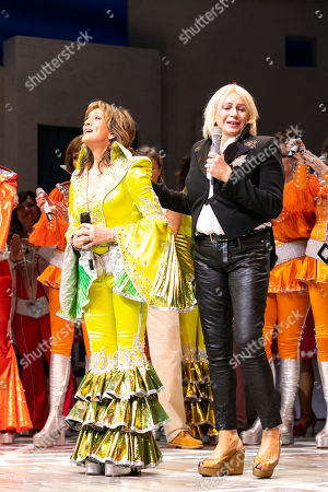 Siobhan McCarthy (Donna) and Judy Craymer (Producer) during the curtain call