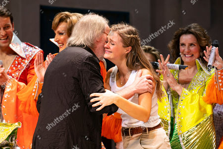 Benny Andersson (Music) and Lucy May Barker (Sophie Sheridan) during the curtain call