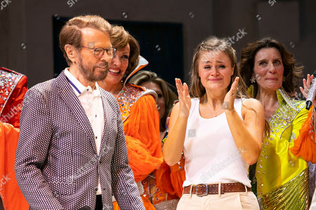 Bjorn Ulvaeus (Music /Producer) and Lucy May Barker (Sophie Sheridan) during the curtain call