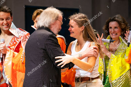 Stock Picture of Benny Andersson (Music) and Lucy May Barker (Sophie Sheridan) during the curtain call