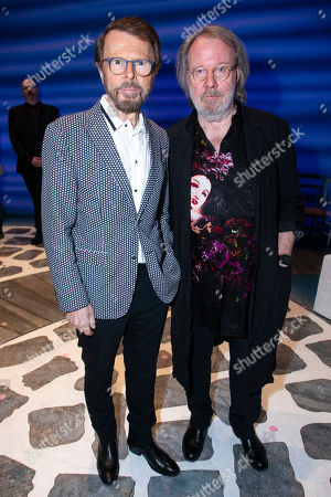 Bjorn Ulvaeus (Music /Producer) and Benny Andersson (Music) backstage