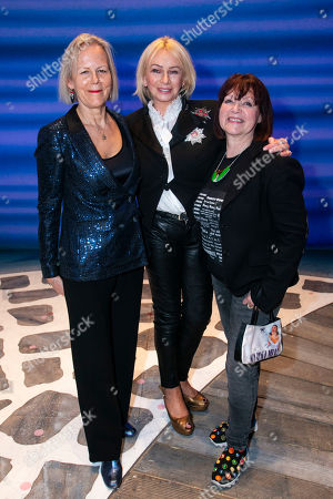 Phyllida Lloyd (Director), Judy Craymer (Producer) and Catherine Johnson (Author) backstage