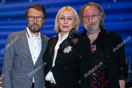 Bjorn Ulvaeus (Music /Producer), Judy Craymer (Producer) and Benny Andersson (Music) backstage