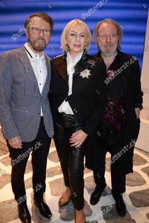 Bjorn Ulvaeus, Judy Craymer and Benny Andersson