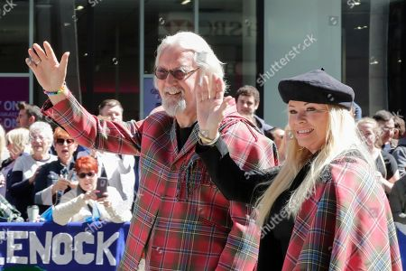 Stock Picture of Grand Marshal Billy Connolly and wife Pamela Stephenson