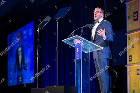 Chad Griffin, president of the Human Rights Campaign, speaks at the Human Rights Campaign annual dinner on in Houston