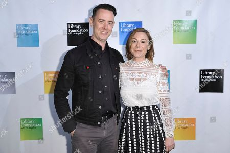 Colin Hanks, Samantha Bryant. Colin Hanks, left, and Samantha Bryant attend 2019 Young Literati Toast at City Market, in Los Angeles