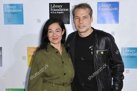 Stock Image of Amanda Fairey, Shepard Fairey. Amanda Fairey and Shepard Fairey attend 2019 Young Literati Toast at City Market, in Los Angeles