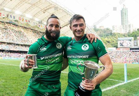 Ireland vs Hong Kong. Ireland's Mark Roche and Billy Dardis celebrate winning the final