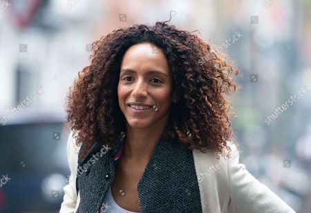 Stock Picture of Writer and broadcaster, Afua Hirsch, arrives for The Andrew Marr Show.
