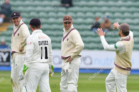 Marcus Trescothick of Somerset in the slips during the Specsavers County Champ Div 1 match between Somerset County Cricket Club and Kent County Cricket Club at the Cooper Associates County Ground, Taunton
