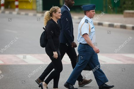 Governor General of Canada Julie Payette (L) arrives to join thousands of people to walk from the Parliament to Amahoro stadium to remember the victims of the 1994 genocide in the capital Kigali, Rwanda, 07 April 2019. Tens of thousands of Rwandans gathered at the stadium to mark the 25th anniversary of the country's 1994 genocide in which ethnic Hutu extremists killed ethnic Tutsis and moderate Hutus during a three-month killing spree that resulted in, according to Rwanda, the death of more than one million people.