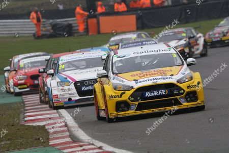 Tom Chilton - Team Shredded Wheat Racing with Gallagher - Ford Focus RS leads the pack during the British Touring Car Championship (BTCC) at  Brands Hatch, Fawkham