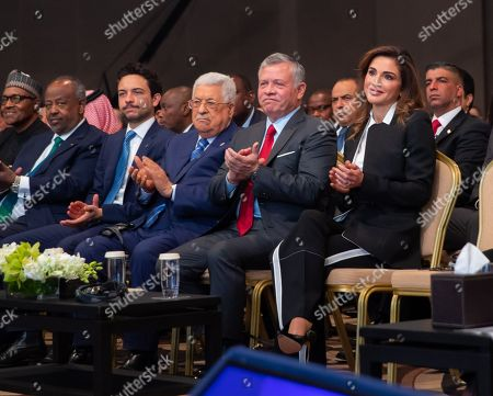 Jordan Crown Prince Al Hussein bin Abdullah II, Mahmoud Abbas President of the Palestinian National Authority, King Abdullah II and Queen Rania