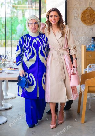 Turkish First Lady Mrs. Emine Gulbaran and Queen Rania