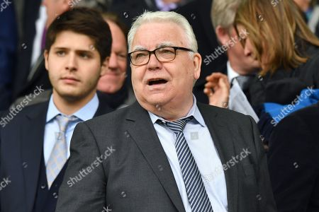 Chairman of Everton Football Club Bill Kenwright during the Barclays Premier League match between Everton and Arsenal at Goodison Park, Liverpool, UK