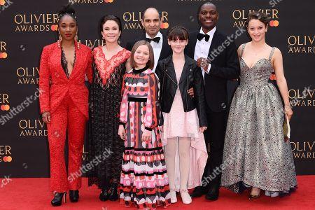 Stock Photo of Cast of 'Fun Home' - Cherrelle Skeete, Kaisa Hammarlund, Harriet Turnbull, Brooke Haynes, Zubin Varla, Ashley Samuels and Eleanor Kane